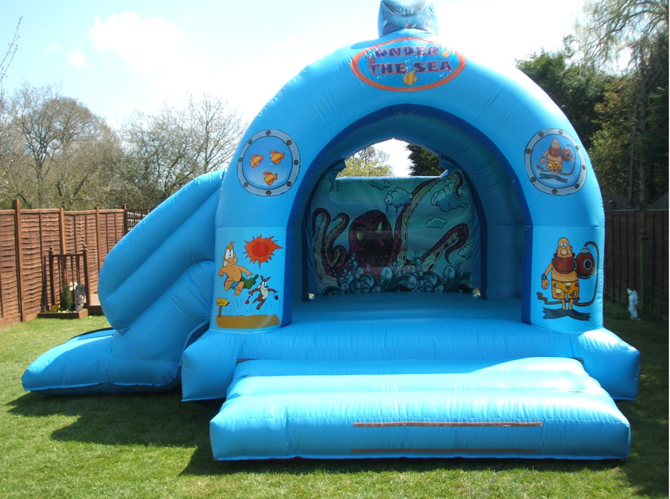Seaworld bouncy castle speedy inflatables - Dolphin swimming pool haywards heath ...